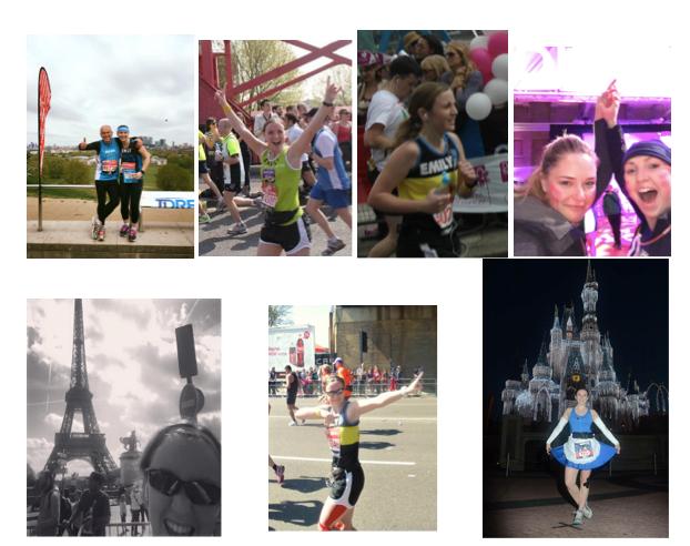 My 7 marathons :)