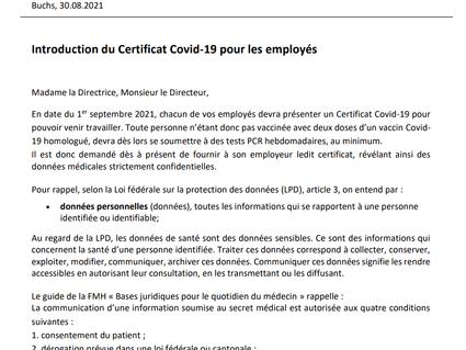 Certificat Covid-19 dans les institutions sociales, un affront aux valeurs humanistes ?