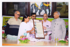 Felicitation at the hands of Mr. B.G. Deshmukh, Ex. Secretary to PM of India,at Snehalay Nagar