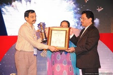 Spirit of Humanity Award at the hands of Health Minister (Mr. Shetty) of Maharashtra State