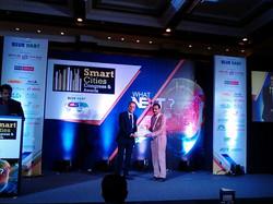 Dr. Ashish receiving 'Certificate of Merit' at World CSR Congress-2016