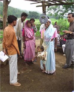 Weighing of Anganwadi Inmates