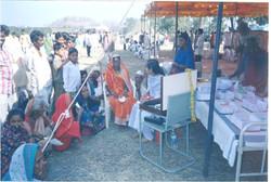Innovative way of reaching to people. Camp in weekly bazaar (Market)