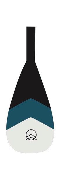 Maui Fibre noir/bois 2pces
