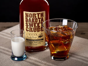 Cocktail drink recipe, White German, with North Dakota Sweet Crude