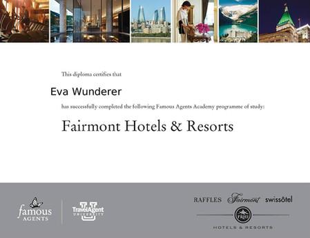 Fairmont Hotels Diplom