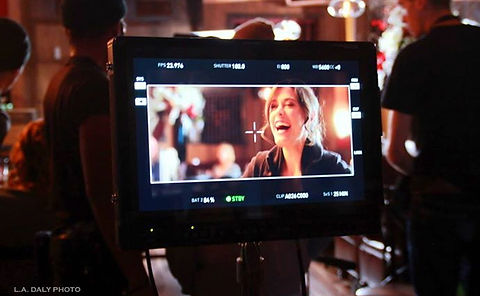 Nicole Vogt-Lowell on set for IN SICKNESS