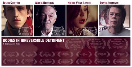 Movie Poster for B.I.I.D. starring Nicole Vogt-Lowell, Mark Margolis (BETTER CALL SAUL), David Johansen (New York Dolls lead singer), & Jason Shelton