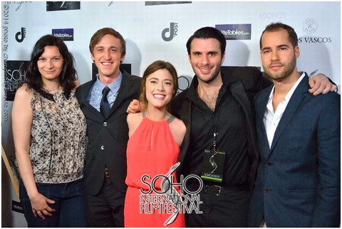 Nicole Vogt-Lowell on the red carpet with cast & crew for the SOHO International Film Festival screening of B.I.I.D. (award-winning film with BETTER CALL SAUL's Mark Margolis)
