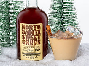 Cocktail drink recipe, Crude Cow, with North Dakota Sweet Crude