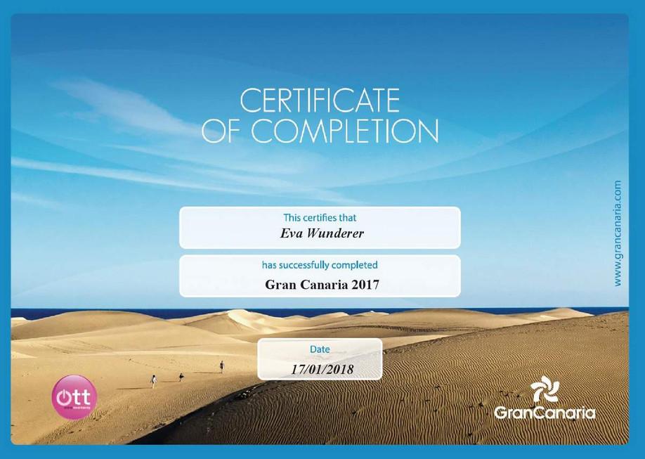 Gran Canaria Zertifikat