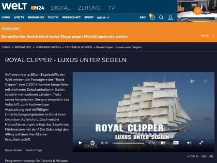 ROYAL CLIPPER im TV
