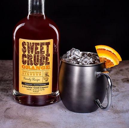 Sweet Crude Orange cocktail drink recipe, Orange Mule