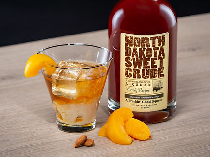 North Dakota Sweet Crude cocktail drink recipe, North Dakota Peach Cobbler