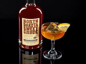 Cocktail drink recipe, Crude Italian, with North Dakota Sweet Crude