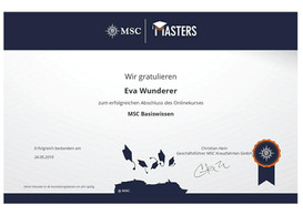 MSC Urkunde