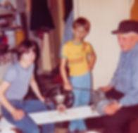 Brothers Christian & Arthur Weidner with Grandpa Albert, North Dakota Sweet Crude Spirits