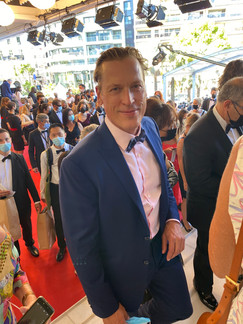 Actor/ producer, Thomas Hildreth at Cannes Film Festival 2021 for the world premiere screening of The Vandal