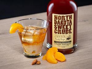 Cocktail drink recipe, North Dakota Peach, with North Dakota Sweet Crude