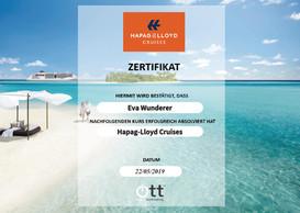 Hapag-Lloyd Cruises Zertifikat