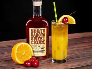 North Dakota Sweet Crude cocktail drink recipe, Pioneer Sunset