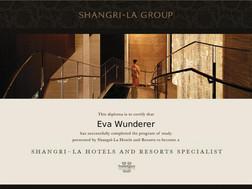 Shangri-La Hotels Diplom