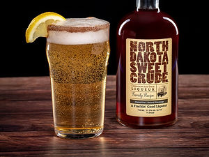North Dakota Sweet Crude cocktail drink recipe, Killians Shandy Claws