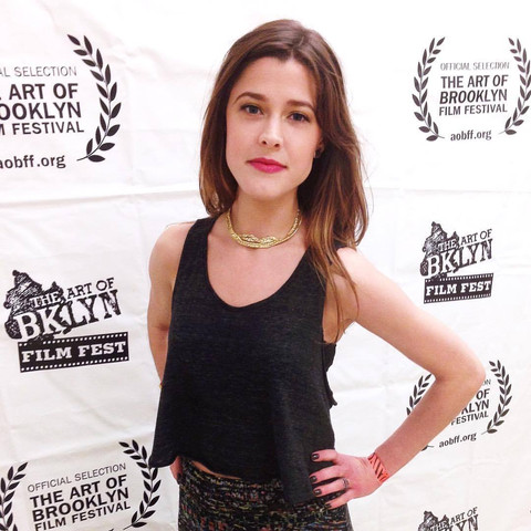 Nicole Vogt-Lowell walking the red carpet at the Art of Brooklyn Film Festival screening of B.I.I.D. (award-winning film with BETTER CALL SAUL's Mark Margolis)