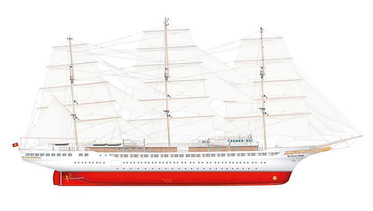 SEA CLOUD SPIRIT Segelplan