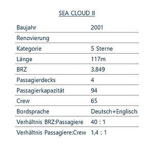 SEA CLOUD 2 Schiffsdaten