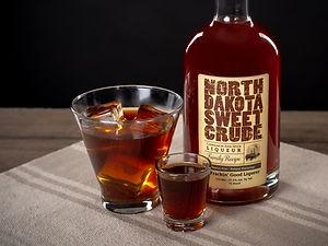 Cocktail drink recipe, Black German, with North Dakota Sweet Crude