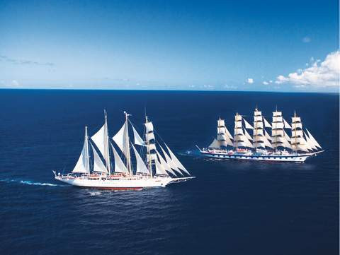 ROYAL CLIPPER trifft STAR FLYER