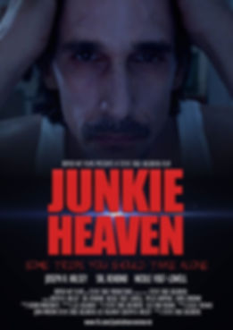 Movie poster for JUNKIE HEAVEN starring Joseph A. Halsey, Sal Rendino, & Nicole Vogt-Lowell