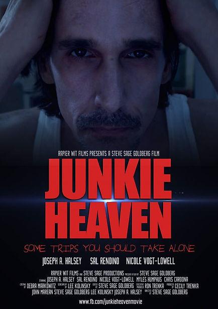 Movie poster for JUNKIE HEAVEN starring Joseph A. Halsey, Sal Rendino, & Nicole Vogt-Lowell