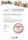A-ROSA Zertifikat