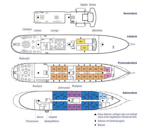 SEA CLOUD 2 Deckplan