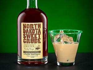 Cocktail drink recipe, Crude Leprechaun, with North Dakota Sweet Crude