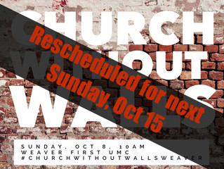 Church Without Walls, Sunday October 8
