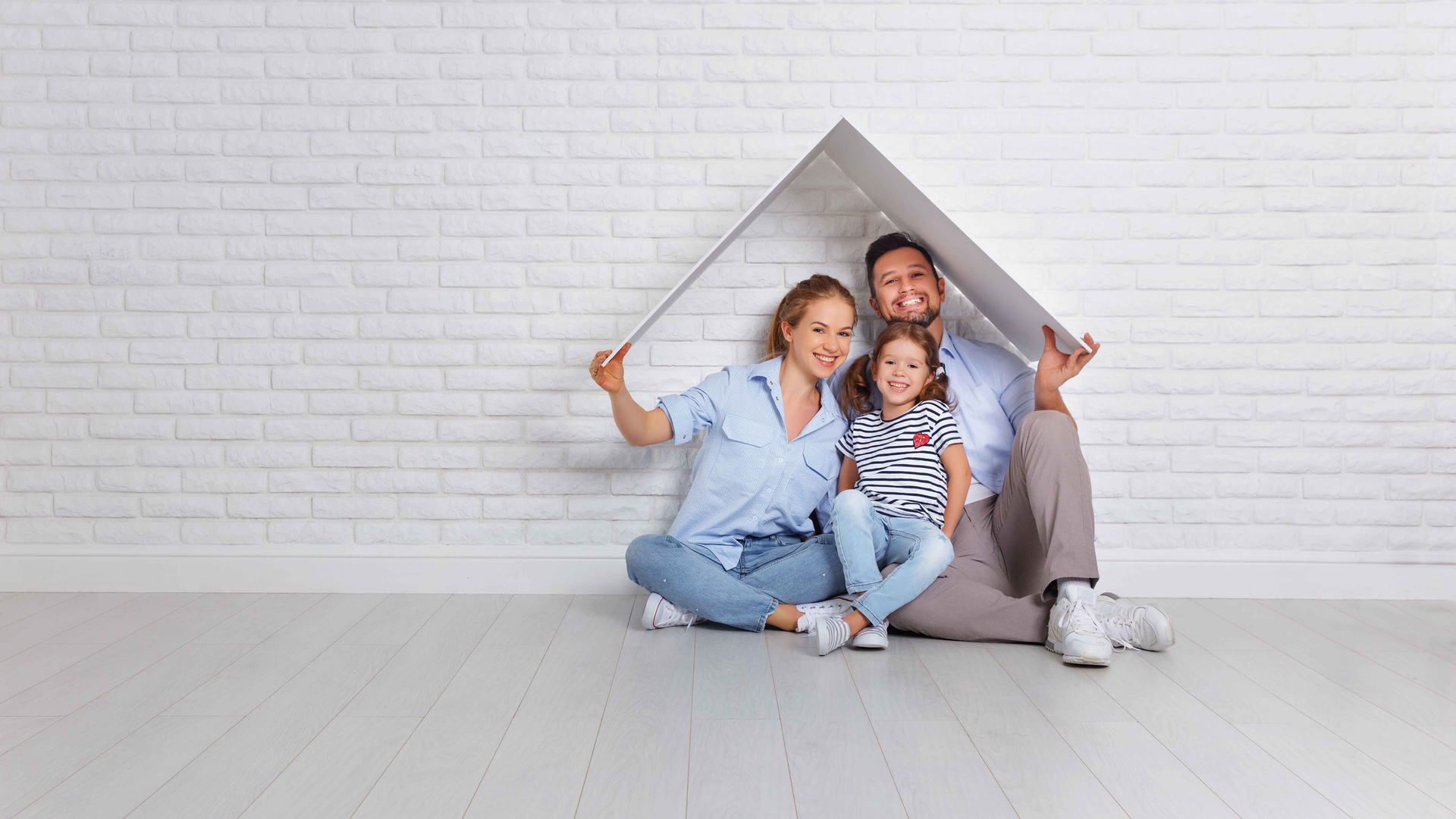 Familie Haus für Alarmanlage