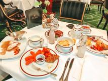 Breakfast at Hotel Sacher in Vienna