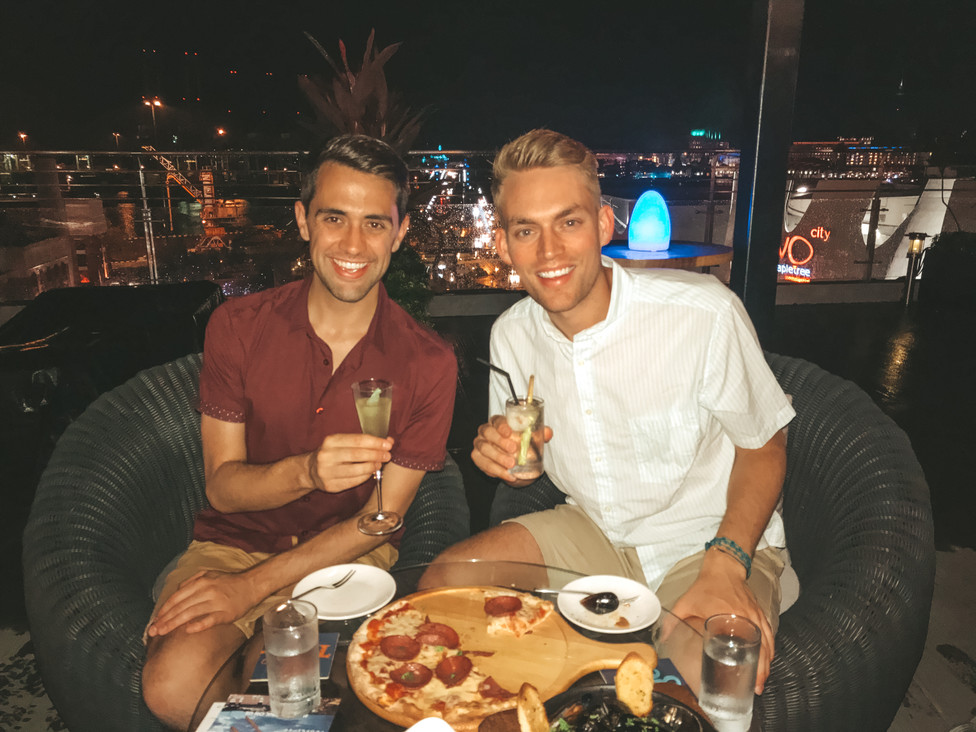 Dinner at The Bay Hotel in Singapore