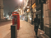 Nighttime in London