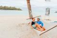 Lounging on Muri Beach