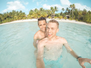 Swimming in Aitutaki