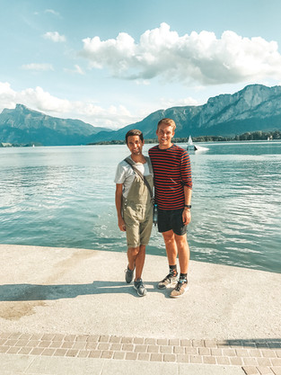 Will & James visiting a Lake in Austria