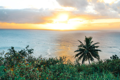 Sunset in Aitutaki