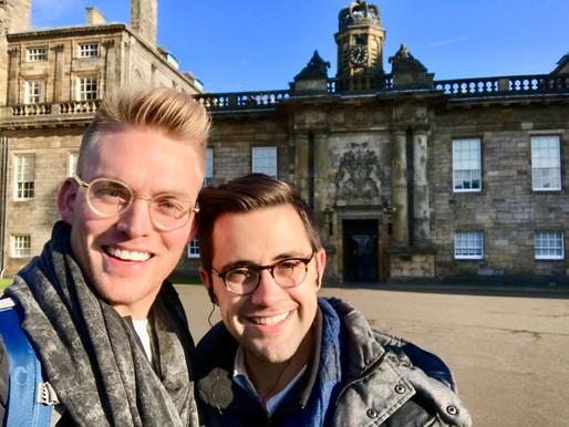 Will & James at Holyrood Palace