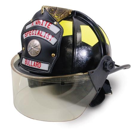 Bullard UST Fiberglass Helmet w/ Brass Eagle