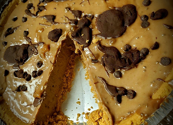 Peanut Butter Chocolate Pie (Gluten Free Avaliable)
