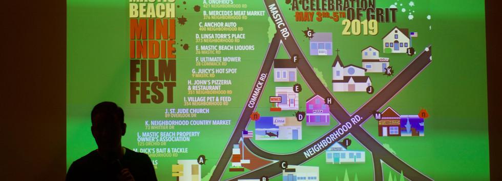 Neighborhood Road Map by Seth Gliksman before the trailer of  NEIGHBORHOOD ROAD...AND AROUND THE CORNER